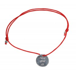 "Pulsera ""Never give up"""
